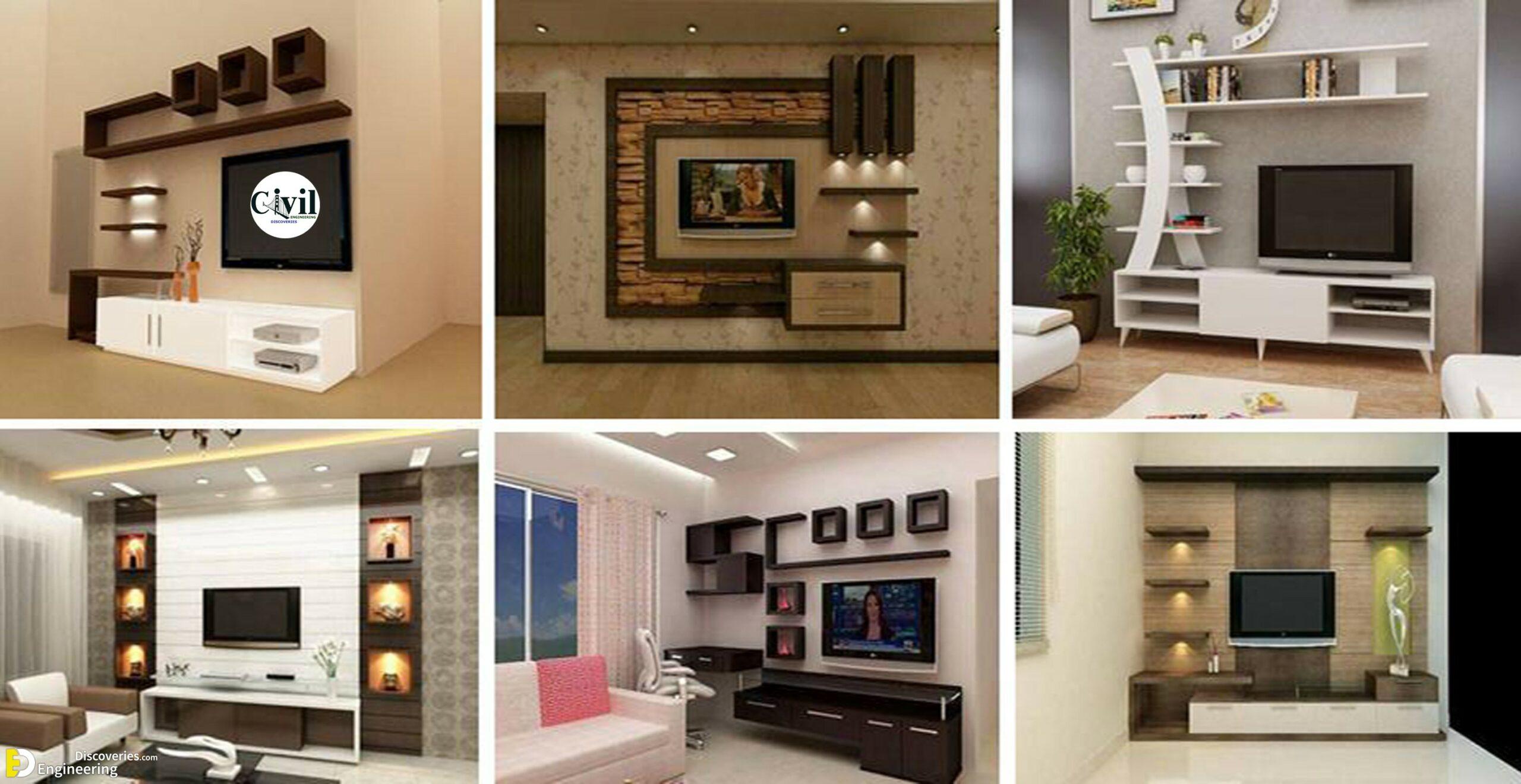 35 Unique Wall Unit Design Ideas For, Living Room Wall Unit Ideas