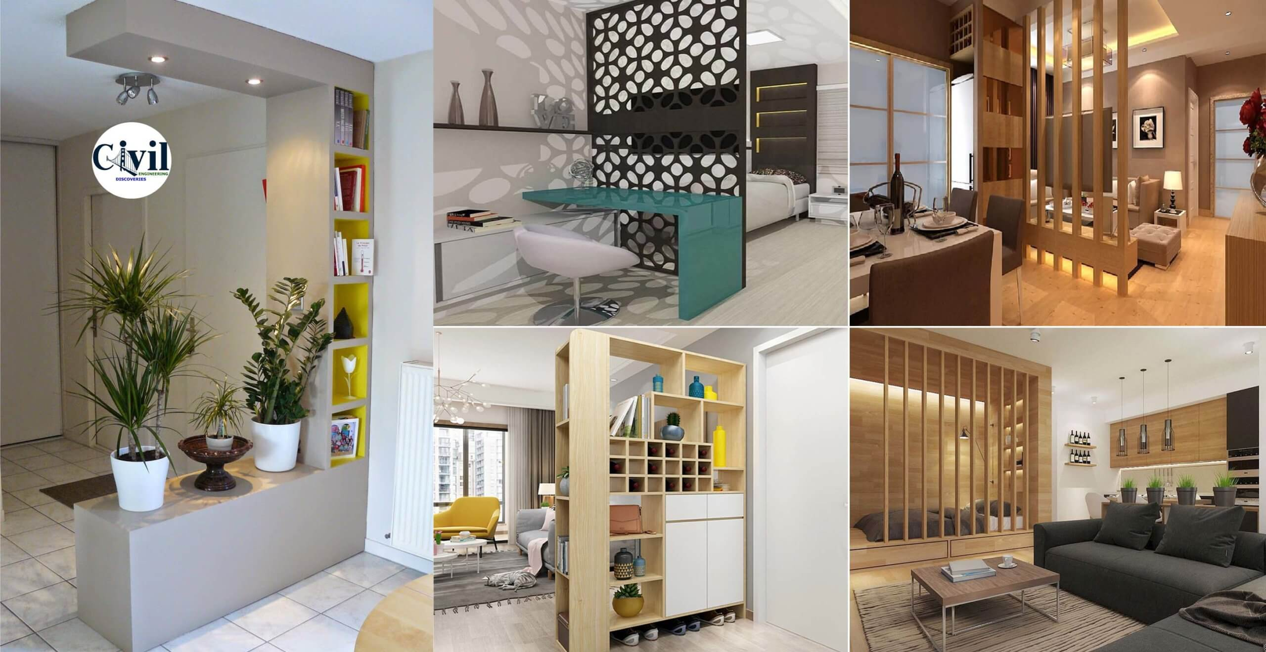 Creative Partition Wall Design Ideas, Living Room Partition Wall
