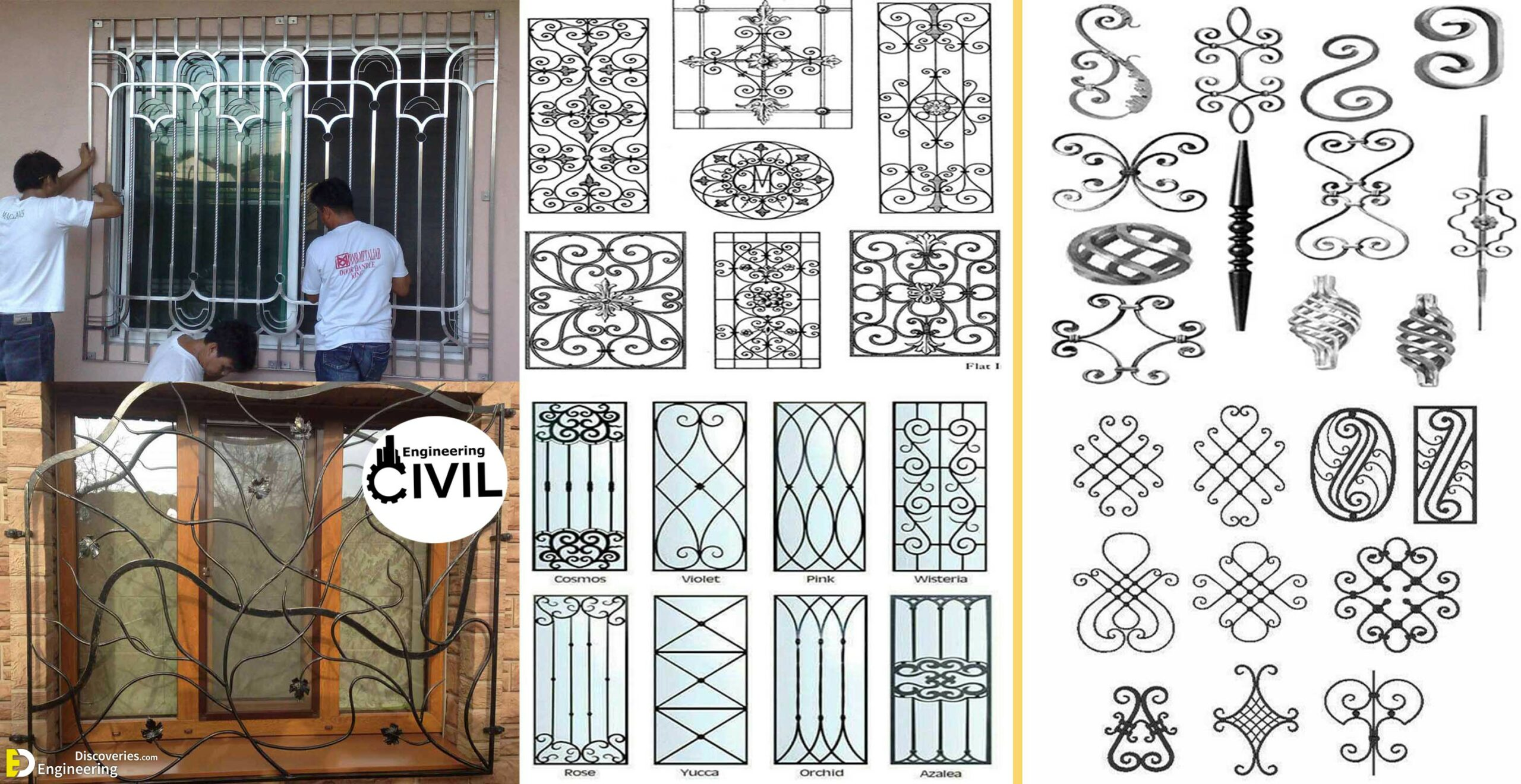 Top 12 Beautiful Grill Design Ideas For Windows   Engineering ...
