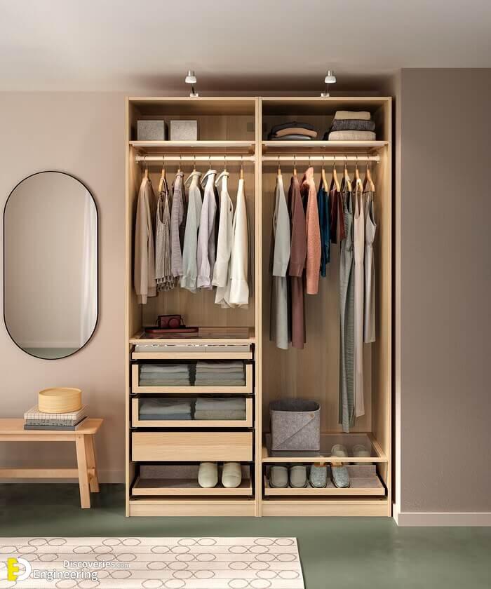 Space saving wardrobe ikea